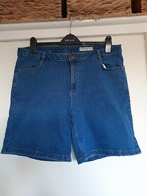 Ladies M&S Denim Shorts Size 16 • 0.99£