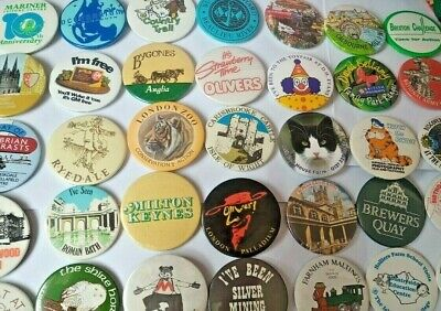 UK ATTRACTIONS PIN BADGE 5cm Vintage Various Metal Souvenirs Destinations Gifts • 2.99£