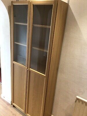 Ikea Billy Bookcase With Half Glass Doors • 60£
