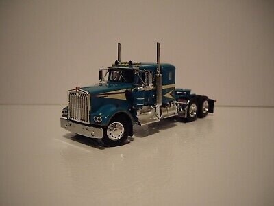 $ CDN83.54 • Buy Dcp First Gear 1/64 Turquoise Kenworth W900a With 36  Flat Top Sleeper