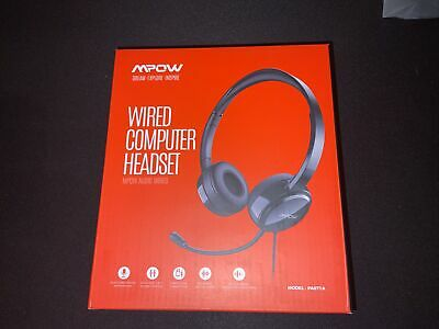MPOW USB Wired Computer Headset For Conference Calls Zoom Skype • 17£