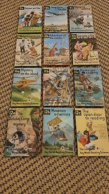 Vintage Ladybird Books Key Words Reading Scheme  9a To 12c Job Lot Bundle X12  • 15£