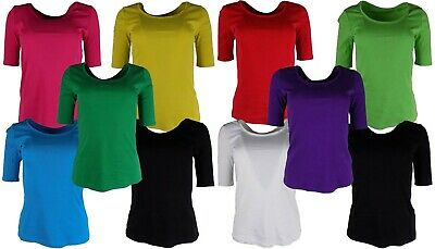 £6.20 • Buy M&S Marks And Spencer Ladies Half Sleeve Cotton T-Shirt / Top, Sizes 10 - 24