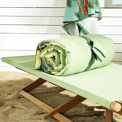 Sold Out Limited Edition IKEA SOLBLEKT SUNBED LOUNGER CUSHION PAD 190x60cm Palms • 20£