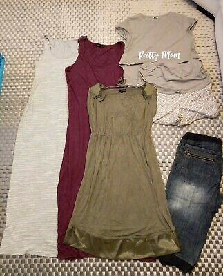Womans Maternity Clothes Summer Bundle Size 10-12 Dress Top Matching Shorts • 4£