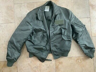 $ CDN126.51 • Buy USAF Air Force Military CWU-36/P Pilot Flyers Summer Flight Jacket Large 42-44