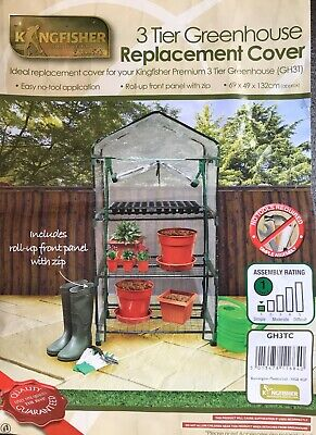 3 Tier Mini Greenhouse Cover Protector Spare Replacement Roll Up For Garden • 10.95£