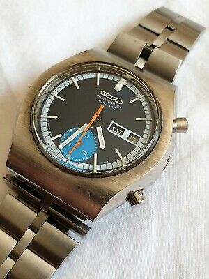 $ CDN684.77 • Buy Seiko 6139-8020 1975  Automatic Chronograph Day Date Watch - Ex Cond Serviced