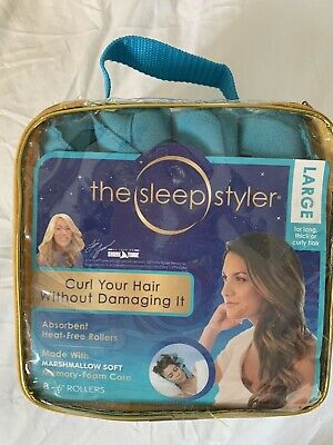 AU35 • Buy The Sleep Styler Large Memory Foam Core Rollers For Long Think Curly Hair NEW