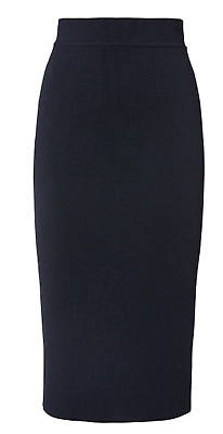 AU255 • Buy Scanlan Theodore Crepe Knit Navy Skirt Xs - New