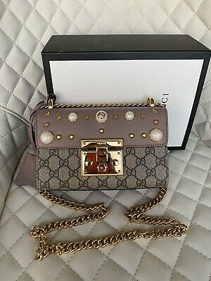 AU2050 • Buy Gucci Small Studded Padlock Leather Crossbody Bag SOLD OUT