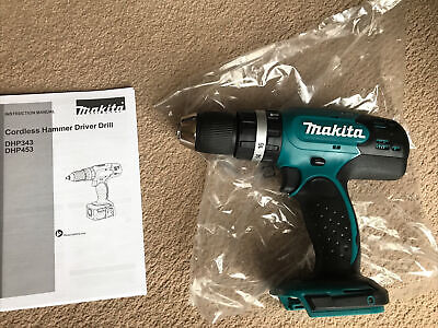 Brand New Makita Dhp453 18v Lxt Combo Cordless Hammer Drill Bare Body Unit Only. • 40£