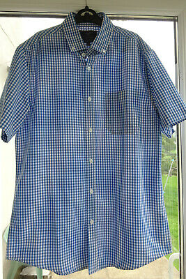 Mens/Boys - Atlantic Bay By BHS - Soft Touch - Short Sleeved Shirt - Small • 8£