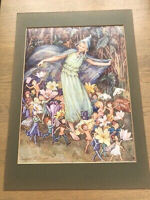 Margaret W Tarrant Vintage Print. THE FAIRY TROUPE.Unframed.36x29cms.VGC • 10£