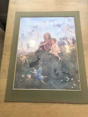Margaret W Tarrant Vintage Print.DO YOU BELIEVE IN FAIRIES?34 X 28.5cms.Unframed • 10£