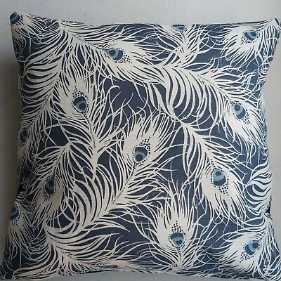 Cushion Cover , Cotton   Peacock Feathers 45x45cm^ • 6.50£