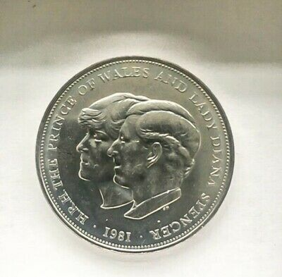 1981 Prince Charles & Lady Diana Spencer Wedding Coin • 1£