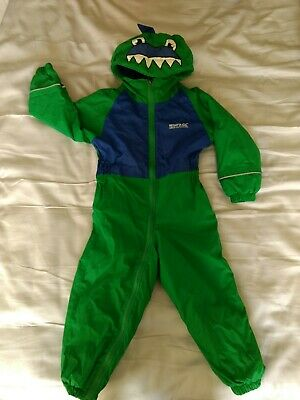 Regatta Kids Dinosaur Puddle Splash Suit | 2-3 Yrs, Green, Waterproof • 8£