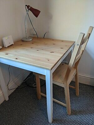 Ikea Lerhamn White Dining Table / Desk And X 2 Ivar Chairs • 50£