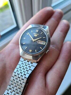 $ CDN63.50 • Buy Vintage 1972 Men's Seiko 5 Automatic Day Date Watch 7019-8180