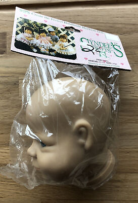 $ CDN25.11 • Buy Syndee's Crafts Vinyl With Porcelain Look Doll Head 31105 Large NOS 1990