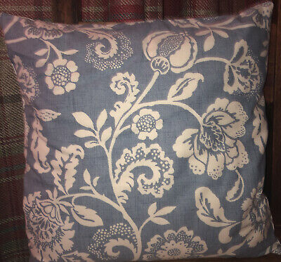 £6 • Buy Clarke And Clarke Blue Floral 16  Cushion Cover Handmade