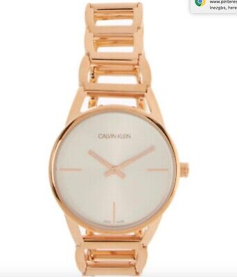 Calvin Klein Ladies Rose Gold Watch Brand New Boxed With Labels RRP £239 • 20.60£