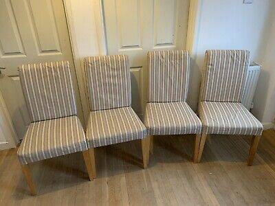 Ikea Henriksdal 4 X Chairs In Oak With Covers - 99p N/R • 0.99£