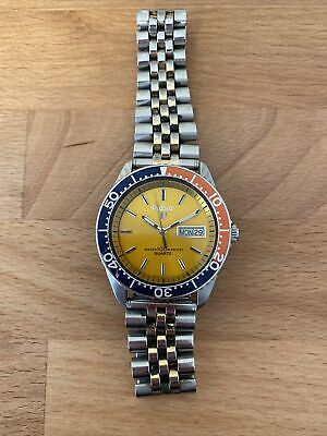 $ CDN113.45 • Buy Pulsar Y563-6019 Diver Pepsi Vintage Seiko Dive Watch Day Date Wristwatch