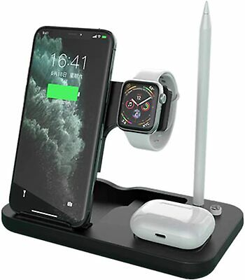 AU32.16 • Buy 4 In 1 15W Qi Wireless Charger Dock Stand F IWatch 5/4/3/2/1 IPhone 12 11 Pencil