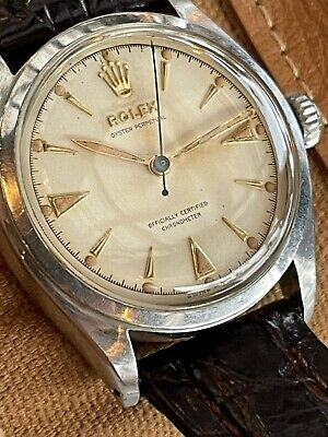 AU1646.86 • Buy Vintage Rolex 6084 Factory Dial 34mm Automatic Watch, Sir Hillarys Gifted Model