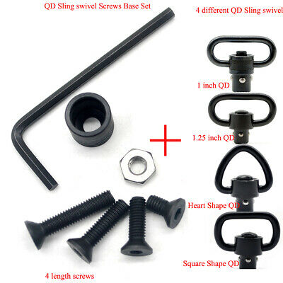 $ CDN16.08 • Buy 1/1.25/1.5'' QD Sling Swivel Screws Base Set_Black Color Can DIY Different Style
