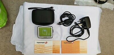 Tomtom One Sat Nav With Charger And In Car Charger And Travel Case • 7£