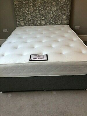King Size Bed With Mattress & Headboard • 178£
