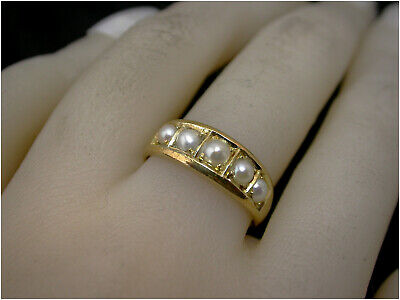 £349.50 • Buy Victorian Mourning Ring 18ct Gold UK- N  Dec 4 1878 Beautiful Condition Antique