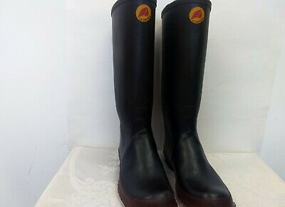 LaCrosse Rubber Tall Men's Boots Black/Brown Size 7 Made In The USA • 21.70£