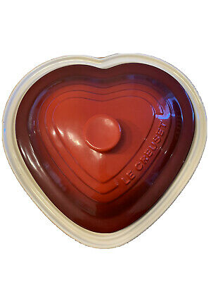 Le Creuset Large Red Heart Shaped Stoneware Casserole Dish 30cms • 14£