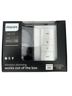 AU21.66 • Buy Philips Hue 455386 Warm White Wireless Dimming Kit A19 LED Bulb + Switch