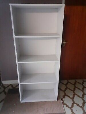 £25 • Buy Grey Bookcases Used 4 Number Melamine Faced Chipboard 695mm X 1630mm X 320mm