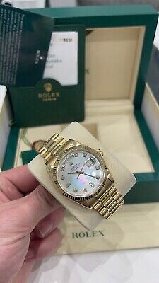 £21000 • Buy Rolex Day Date 118238 Diamond MOP Factory Dial 36mm Box, Papers & Service Card