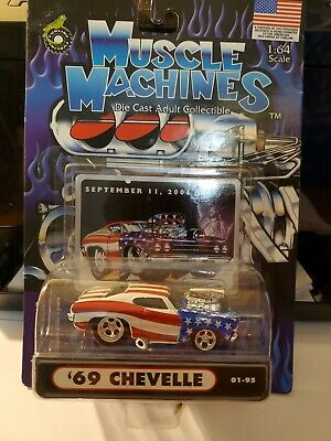 Funline Muscle Machines '69 Chevelle Flag Die Cast Red White Blue • 5.06£