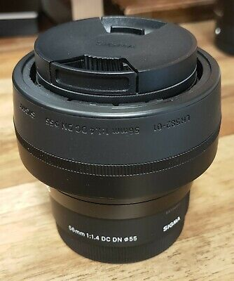 AU400 • Buy Sigma 56mm F1.4 DC DN Contemporary Lens For Sony A6300 A6400 A6500 ~As New