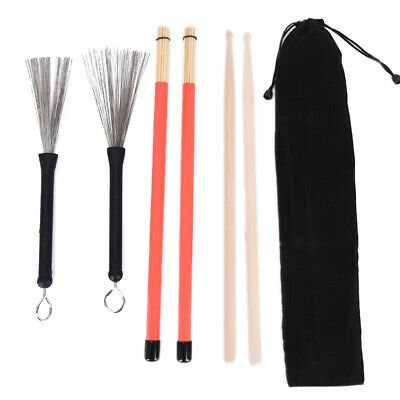 AU16.99 • Buy 1 Pair 5A Drum Sticks Wood Drumsticks Set 1 Pair Drum Brushes Drum Stick Gw