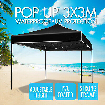 AU84.44 • Buy 3x3M Gazebo Outdoor Courtyard Marquee Party BBQ Tent Canopy Camping Garden Tent