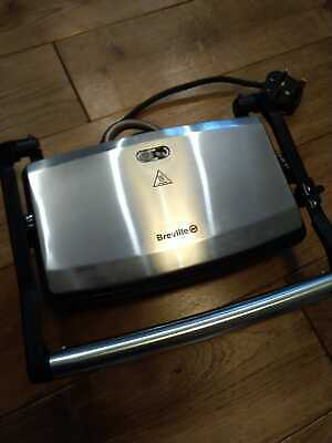 Unused Breville Stainless Steel Panini & Sandwich Press Toaster Hot Plate 1000W • 14.99£