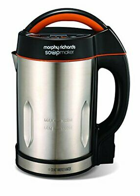 Morphy Richards 48822 Soup Maker, Stainless Steel, 1000 W, 1.6 Liters • 49.99£