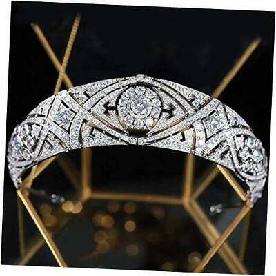 $ CDN100.93 • Buy CZ Full Cubic Zirconia Tiaras And Crowns For Women Prom Quinceanera Birthday Meg