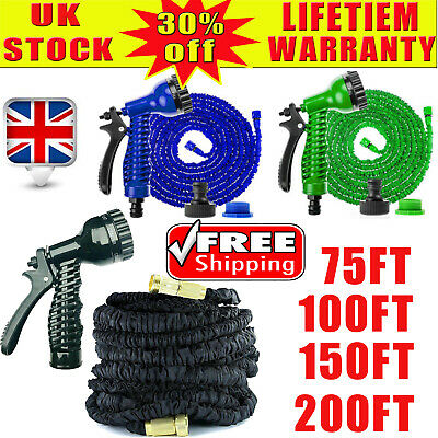 Garden Hose Expanding Garden Water Hose Pipe With 7 Function Spray Gun 4 Size • 27.38£