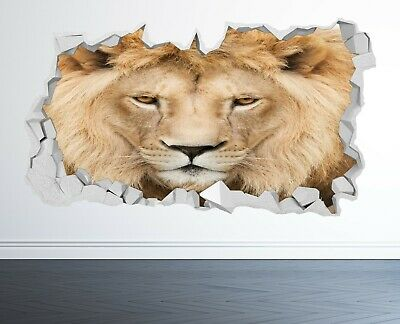 £12.99 • Buy Lion Wall Sticker 3d Look - Bedroom Lounge Tiger Nature Wall Decal Z1156