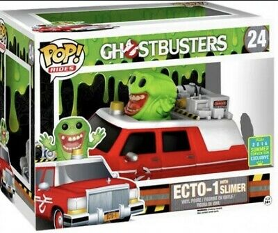 Funko Pop Vinyl Ghostbusters ECTO-1 With Slimer #24 SDCC16 Summer Exclusive • 59.99£